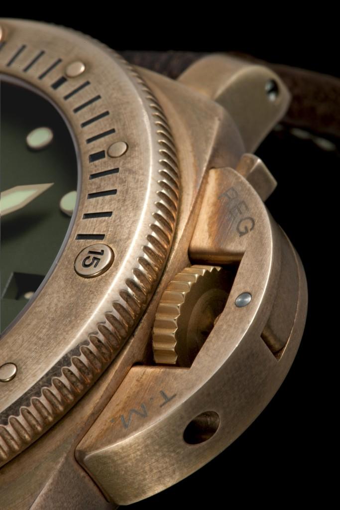 Luminor Submersible 1950 3 Days Automatic Bronzo - 47mm, PAM00382, P.9000 Movement, bronze and titanium, green dial, calf strap