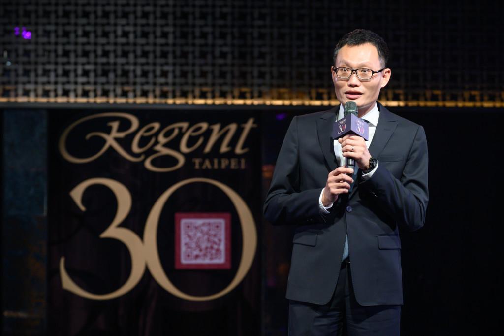 台北晶華酒店暨集團餐飲董事總經理吳偉正先生為活動致詞