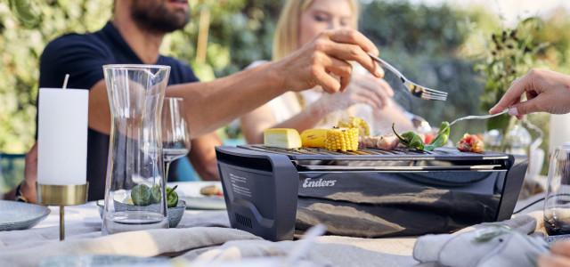 中秋烤肉必備!!德國Enders桌面式木炭烤肉爐,桌上烤、更優雅!