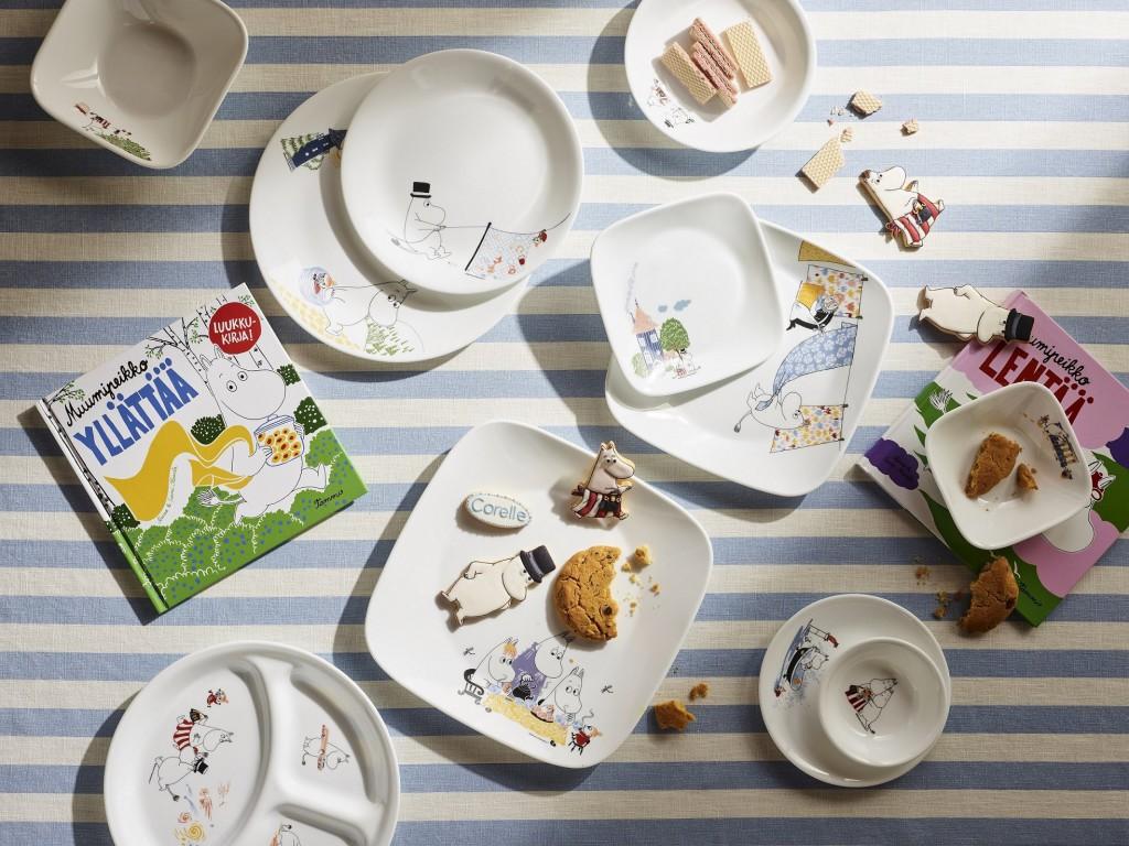 康寧餐具推出MOOMIN姆明75周年限定餐盤、餐碗及保鮮盒(1)