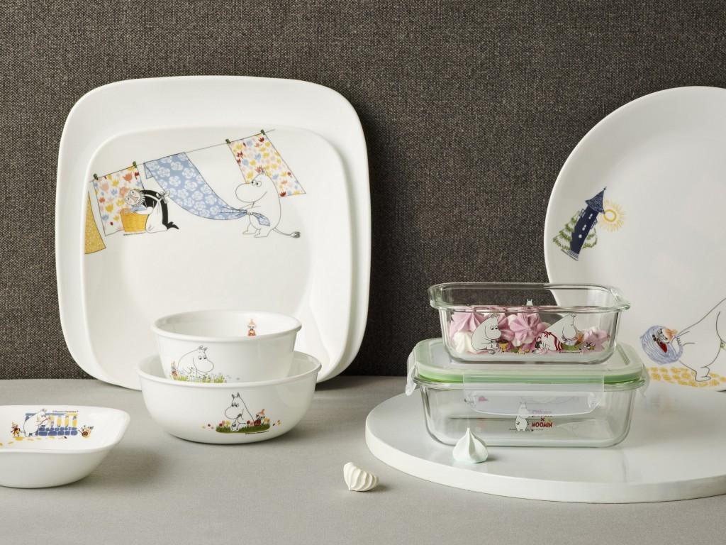 康寧餐具推出MOOMIN姆明75周年限定餐盤、餐碗及保鮮盒(6)