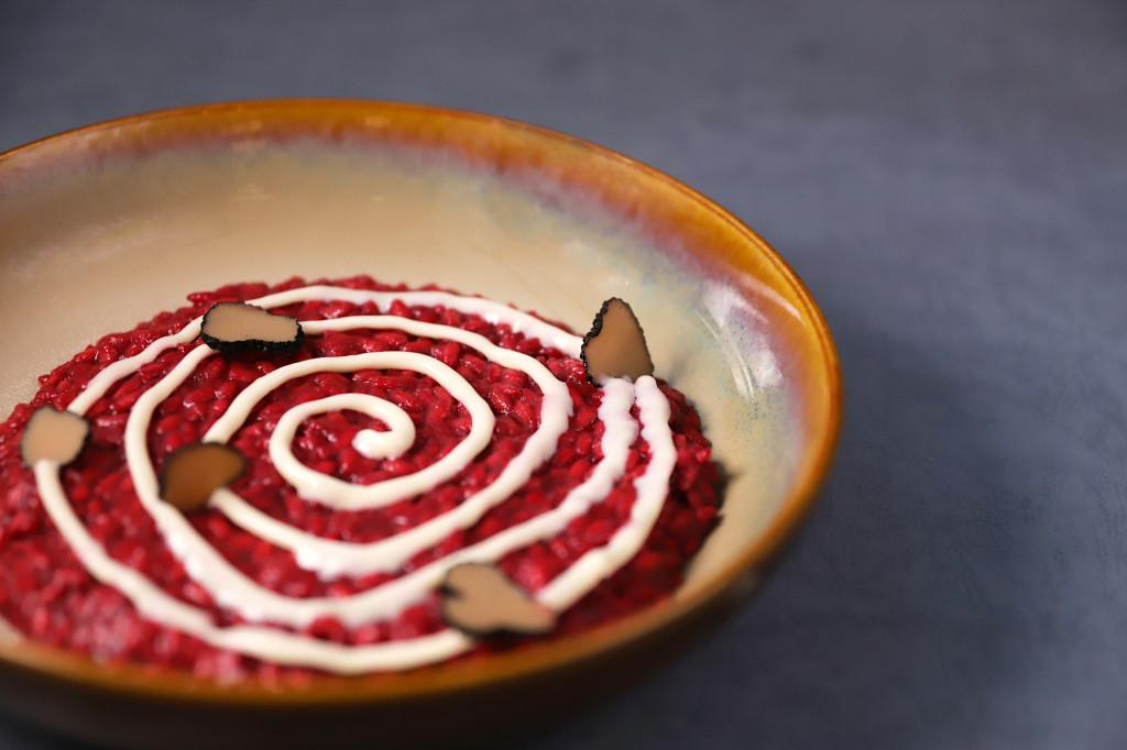 紅甜菜起士燉飯